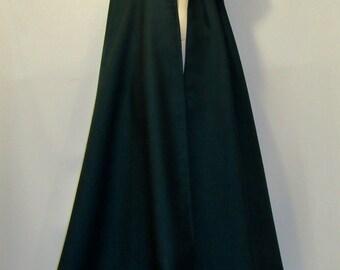 Pure Wool Dark Green Colour Cloak with Cape~~Hooded Cloak~Medieval Cloak Wool~Costume~Winter Cloak Custom make~Jedi Robes Cloaks@sohoskirts