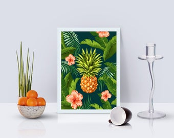Pineapple Print - Home Decor - Hippie Art Print -  Art Print - Esoteric Print- Spiritual Print- Supernatural