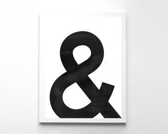 Minimalist Art Ampersand Wall Art Inspirational Art Modern Office Decor Ampersand Print And Print Minimalist Printable And Symbol
