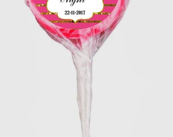 12 Personalised Bachelorette/ Hen Party  Lollipops