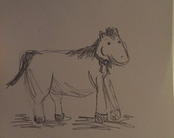 Dressage Horse Drawing