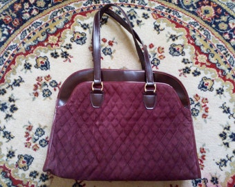 Bag vintage Burgundy velvet bag retro effect