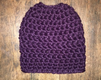 MADE TO ORDER Adult Messy Bun Beanie