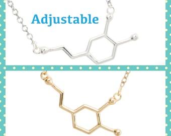 Best friend gift Dopamine Necklace molecule necklace Friendship necklace best friend necklace