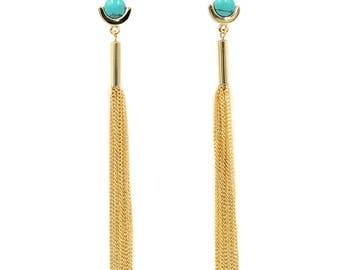 Exaggerated tassels earrings
