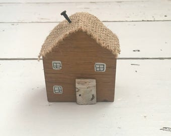 Small Wooden House, House Gift, Decorative House, Little Wood House, New Home Gift, Home Decoration, Home Decor, Miniature House, Wood Gifts