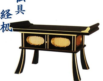 Traditional Kyozukue Buddhist sutra desk,Japanese wood structure Butsu altar,free shipping,New