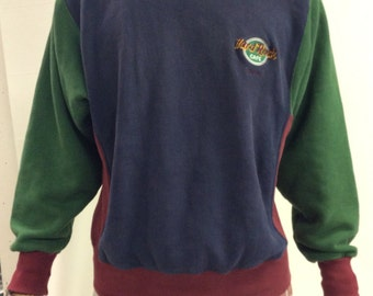 Hard Rock Cafe Dallas Color Block Sweatshirt