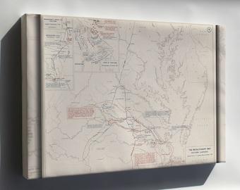 Canvas 24x36; Revolutionary War Map Virginia, 1778-1781