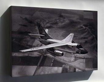Canvas 24x36; Douglas B-66 Destroyer In Flight