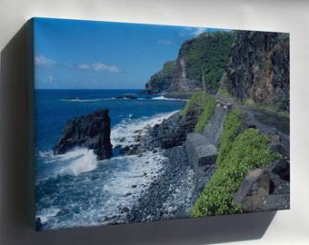 Canvas 24x36; Hana Belt Road, Between Haiku And Kaipahulu, Hana Vicinity Maui County, Hawaii