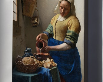 Canvas 24x36; The Milkmaid By Johannes Vermeer P2