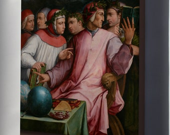 Canvas 24x36; Giorgio Vasari Six Tuscan Poets