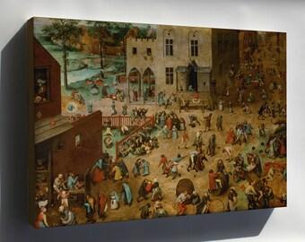 Canvas 24x36; Children'S Games Kinderspiele, Children'S Games. Bruegel