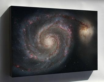 Canvas 24x36; Whirlpool Galaxy (Spiral Galaxy M51