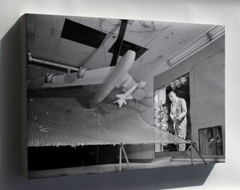 Canvas 16x24; Model Of The X-15, Langley Wind Tunnel 1958