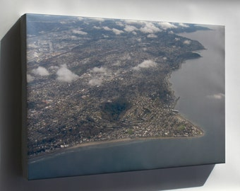 Canvas 16x24; Aerial View Of Alki Point 2