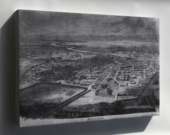 Canvas 16x24; Alexandria  1859 In German