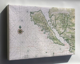 Canvas 16x24; California Island Map Of California As An Island C1650 By Johannes Vingboons