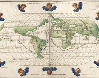 16x24 Poster; Map Of The World 1544