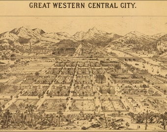 16x24 Poster; Map Of Great Western Central City Colorado 1887