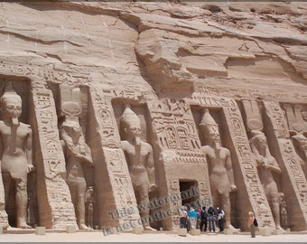 16x24 Poster; Temple Of Nefertiti Abu Simbel Temples, Temple Of Nefertiti