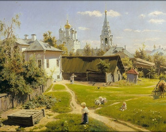 16x24 Poster; Moscow Patio By Vasiliy Polenov