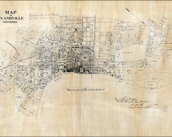 16x24 Poster; Map Of Nashville, Tennessee 1860