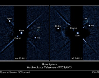 16x24 Poster; P4; Fourth Moon Of Pluto, Hubble Space Telescope Image