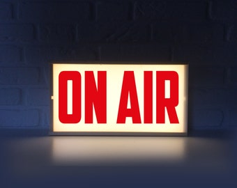 On air lighted sign - On air sign with red letters - Lightbox On air light box - On air lamp
