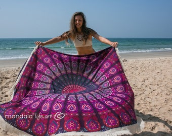 Mandala Tapestry Throw, Mandala Beach Blanket, Gypsy Tapestry, Large Beach Sheet, Boho Yoga Mat