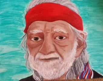 Willie Nelson portrait