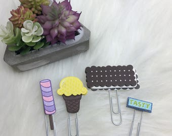 Summer Treats Paperclips // Planner Clip Planner Accessories School Supplies Planning