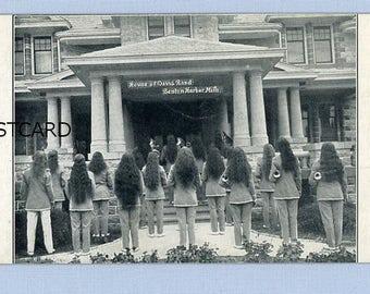 House of David Marching Band, Girls with Long Hair, Circa 1920, Benton Harbor, Michigan