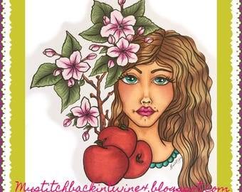 Digital stamp colouring image - AMY . jpeg / png