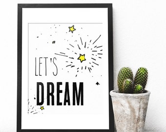 Dream Wall Decor dream wall art | etsy
