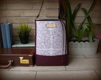 PURSE Jane Austen Pride and Prejudice pride and prejudice, VEGAN ORGANIC Organic cotton