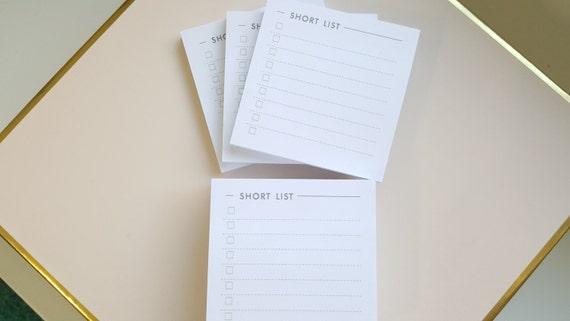 Short List Sticky Note 3-Pack