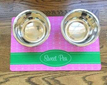 Pet Mat - Doggie Placemat - Pet Placemat - Dog Food Mat - Personalized Pet Placemat - Water Bowl Mat - Bowl Placemat - Pet Food Mat - Puppy
