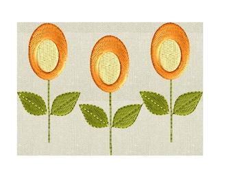 Lollipop Flowers Embroidery Design - EMBROIDERY DESIGN FILE - Instant download - Hus Dst Jef Pes VP3 Exp formats