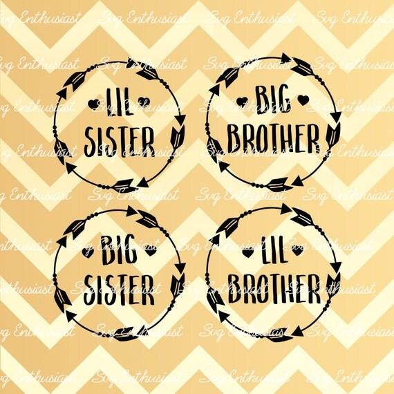 Big Sister Svg Big Brother Svg Lil Brother Svg Lil Sister