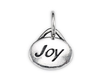 """Sterling Silver """"Joy"""" Message Charm"""