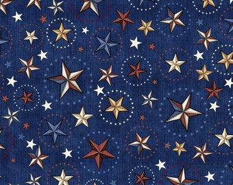 Quilting Treasures - Home of the Brave - 1649-24811-N - Dan Morris - Stars - Patriotic - Quilts of Valor - 4th of July - Military