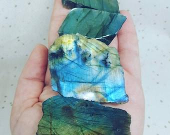 Labradorite Crystal, Labradorite Slice Natural, Labradorite Raw, Labradorite Top polished, Labradorite, Natural Crystal