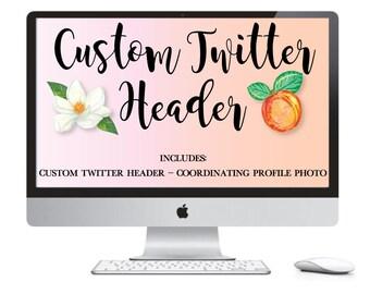Custom Twitter Banner Set - Twitter Header Photo - Twitter Page Design - Custom Twitter Set - Made To Match Twitter- Social Media Banners
