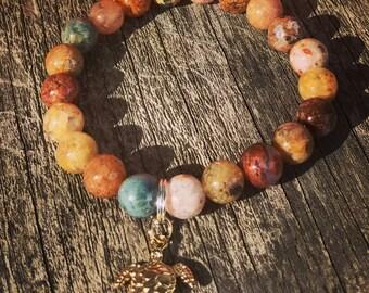 Ocean Agate/Beaded Bracelet/Agate/Healing/Calming Stones