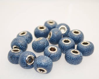 Set of 3 Pandora Style Polymer Clay Beads