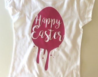 Happy Easter Shirt/Easter Shirt/Easter Bodysuit/Easter/Toddler Shirts/Gift Ideas/Girls Easter Shirt