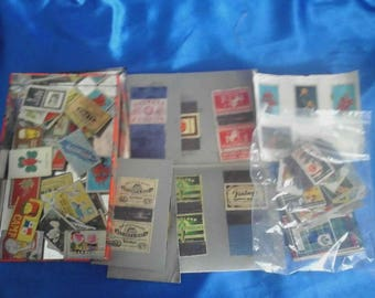 Vintage Collection of Matchbox Labels from Various Countries Loose Labels in a Tarten Tin