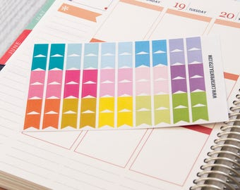 60 tiny flag stickers, banner sticker, planner stickers, eclp filofax happy planner color coding stickers